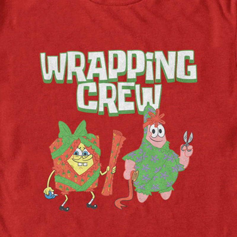 SpongeBob and Patrick Wrapping Crew Short Sleeve T-Shirt - SpongeBob SquarePants Official Shop