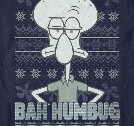Squidward Bah Humbug Short Sleeve T-Shirt - SpongeBob SquarePants Official Shop