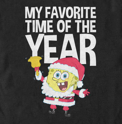 SpongeBob Favorite Time of the Year Short Sleeve T-Shirt - SpongeBob SquarePants Official Shop