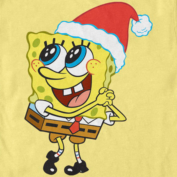 SpongeBob Santa Short Sleeve T-Shirt - SpongeBob SquarePants Official Shop