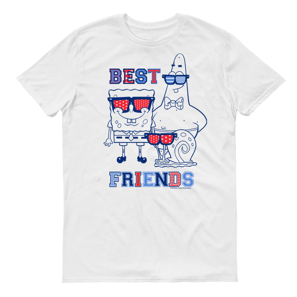 SpongeBob SquarePants Americana Best Friends Adult Short Sleeve T-Shirt