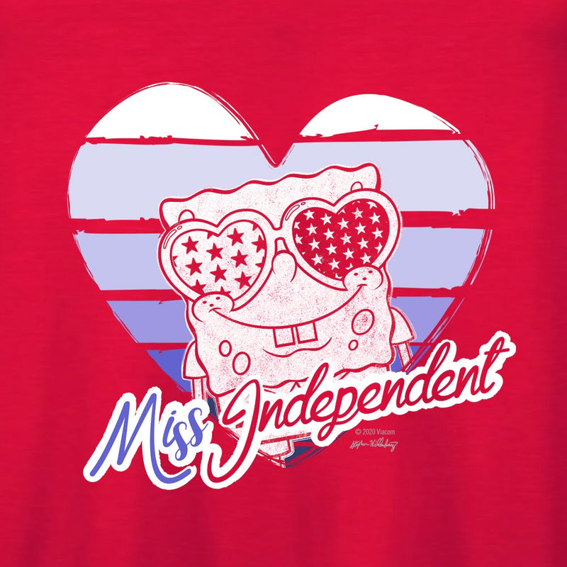 SpongeBob SquarePants Miss Independent Women's Flowy Tank Top