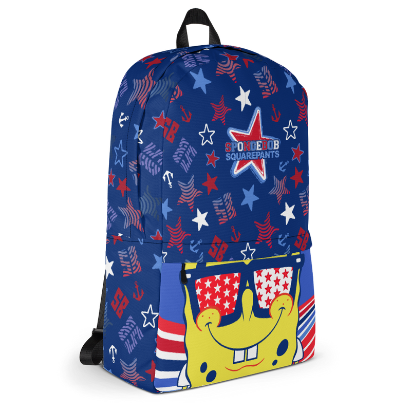SpongeBob SquarePants SpongeBob SquarePants Americana Pattern Premium Backpack - SpongeBob SquarePants Official Shop