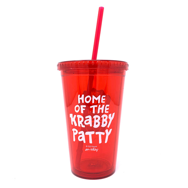 The Krusty Krab 16 oz Tumbler with Straw - SpongeBob SquarePants Official Shop
