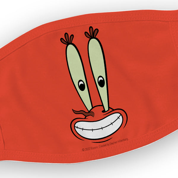 SpongeBob SquarePants Mr. Krabs Big Face Washable Face Mask