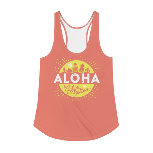 SpongeBob SquarePants Aloha Women's All-Over Print Racerback Tank Top