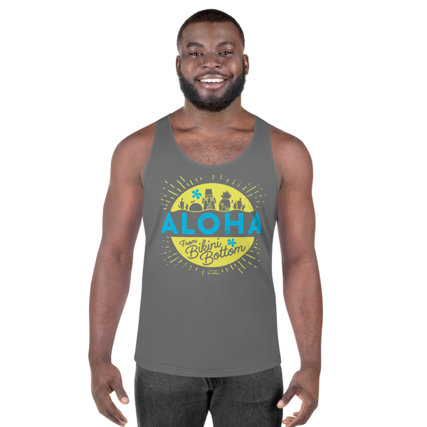SpongeBob SquarePants Aloha Adult All-Over Print Tank Top