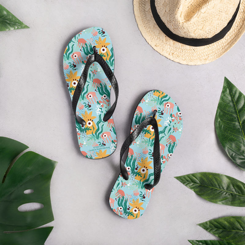 SpongeBob SquarePants Barnacle Blues Adult Flip Flops