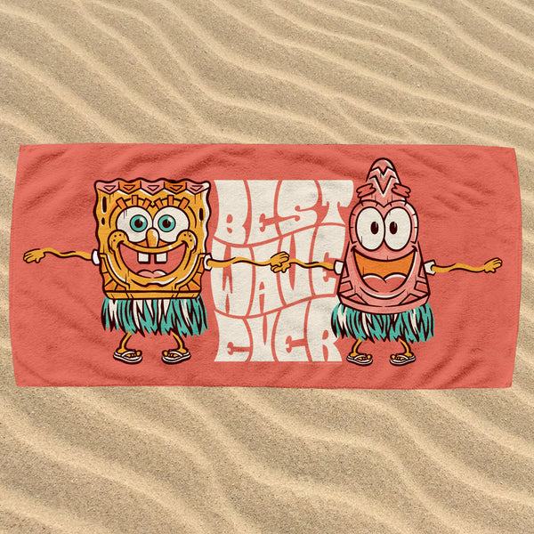 SpongeBob SquarePants Best Wave Ever Beach Towel