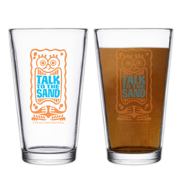 SpongeBob SquarePants Talk to the Sand Drinking Glass