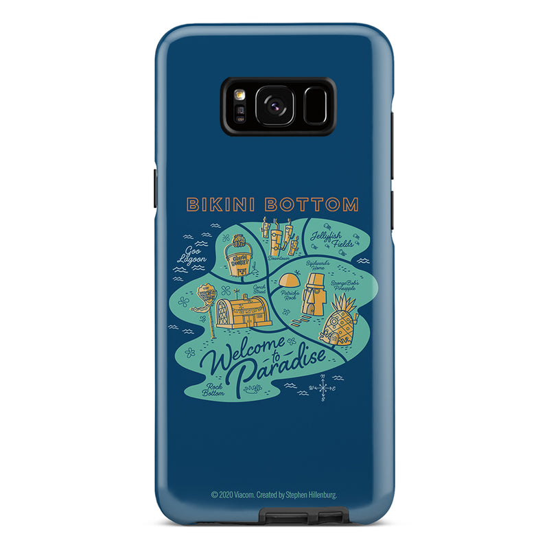 SpongeBob SquarePants Welcome to Paradise Tough Phone Case - SpongeBob SquarePants Official Shop