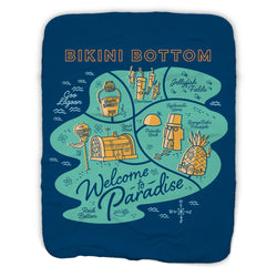 SpongeBob SquarePants Welcome to Paradise Sherpa Blanket