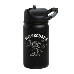 SpongeBob SquarePants Sandy Cheeks No Excuses Laser Engraved Short SIC Water Bottle