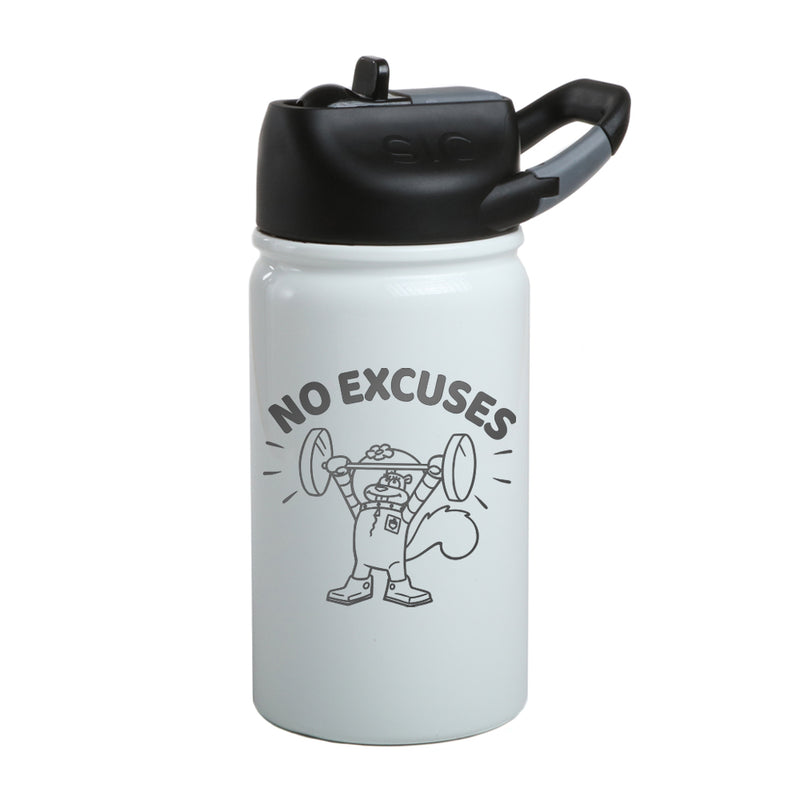 SpongeBob SquarePants Sandy Cheeks No Excuses Laser Engraved Short SIC Water Bottle - SpongeBob SquarePants Official Shop
