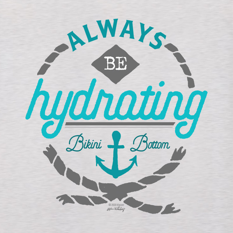 "SpongeBob SquarePants ""Always Be Hydrating"" Women's Tri-Blend Racerback Tank Top"