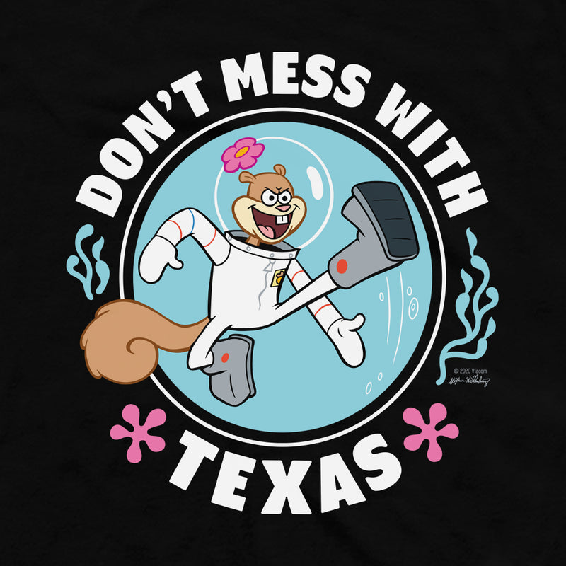 SpongeBob SquarePants Sandy Cheeks Don't Mess With Texas Adult Tank Top