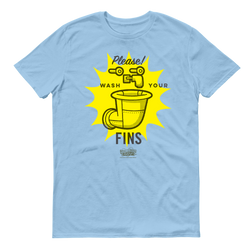 SpongeBob SquarePants Wash Your Fins Adult Short Sleeve T-Shirt