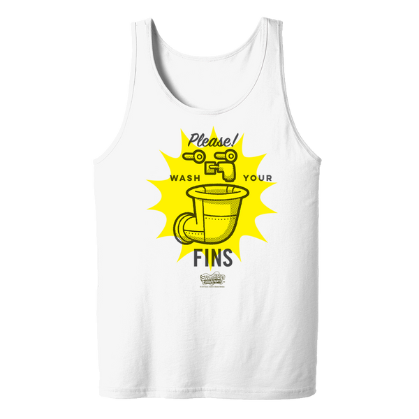 SpongeBob SquarePants Wash Your Fins Adult Tank Top
