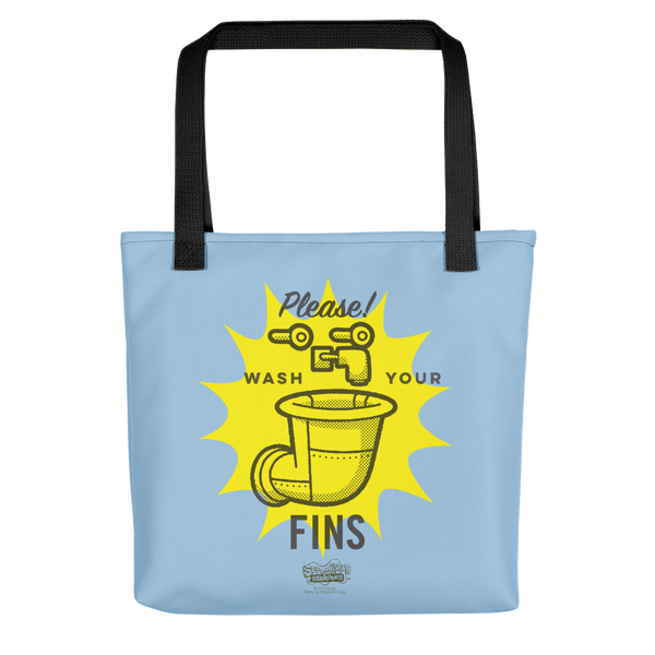 SpongeBob SquarePants Wash Your Fins Premium Tote Bag