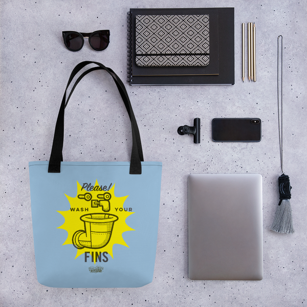 SpongeBob SquarePants Wash Your Fins Premium Tote Bag - SpongeBob SquarePants Official Shop