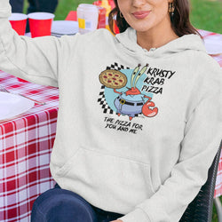 The Krusty Krab Pizza Lightweight Hooded Sweatshirt - SpongeBob SquarePants Official Shop