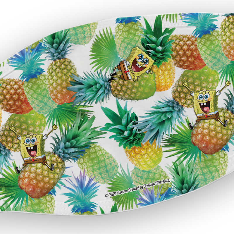 SpongeBob SquarePants Pineapple Washable Face Mask - SpongeBob SquarePants Official Shop
