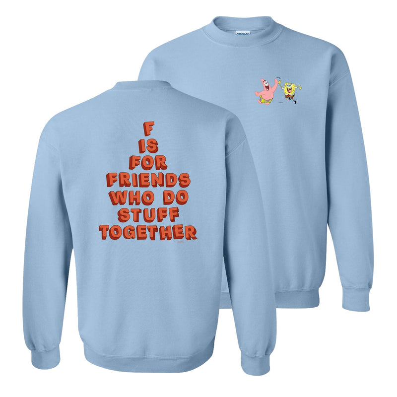 SpongeBob SquarePants Do Stuff Together Crew Neck Sweatshirt