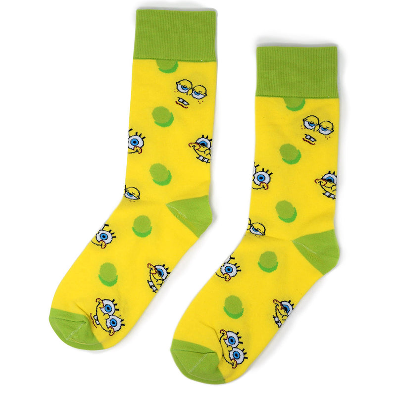 SpongeBob SquarePants Faces Adult Unisex Socks - SpongeBob SquarePants Official Shop