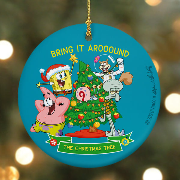 SpongeBob SquarePants Bring It Around Round Ceramic Ornament - SpongeBob SquarePants Official Shop