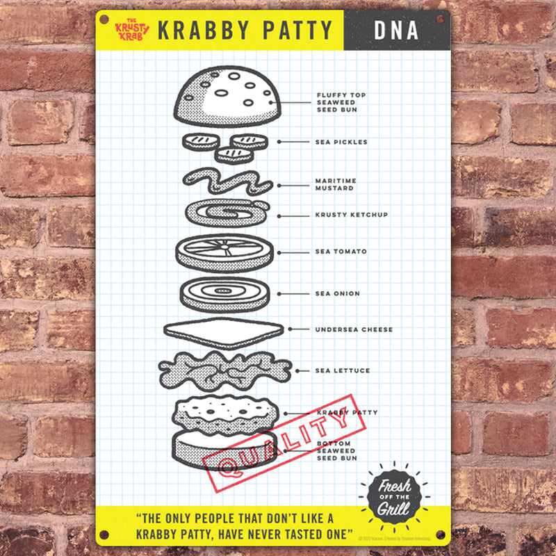 SpongeBob SquarePants The Krusty Krab DNA Metal Sign - SpongeBob SquarePants Official Shop