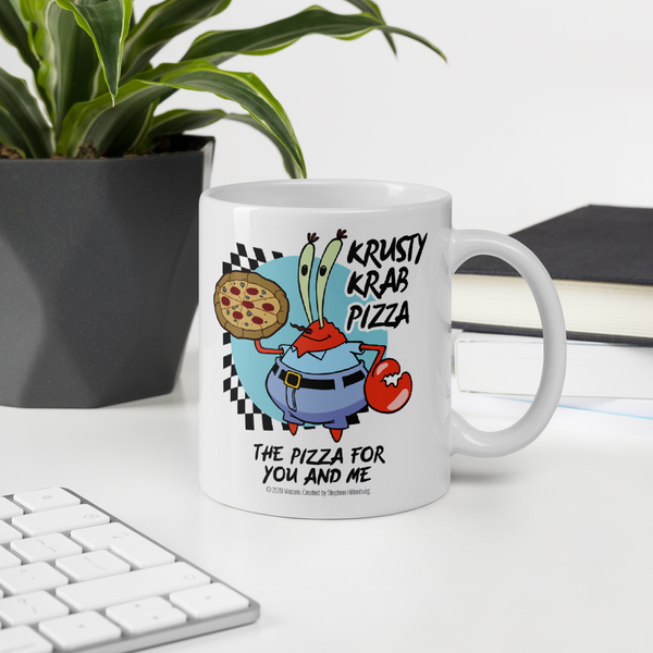 SpongeBob SquarePants The Krusty Krab Pizza White Mug - SpongeBob SquarePants Official Shop