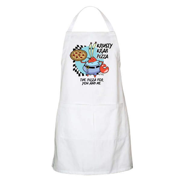 SpongeBob SquarePants The Krusty Krab Pizza Apron - With Pockets - SpongeBob SquarePants Official Shop