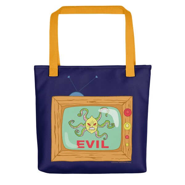 SpongeBob SquarePants Evil TV Premium Tote Bag