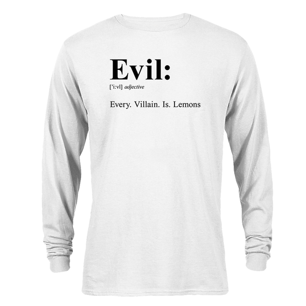 SpongeBob SquarePants Evil Adult Long Sleeve T-Shirt