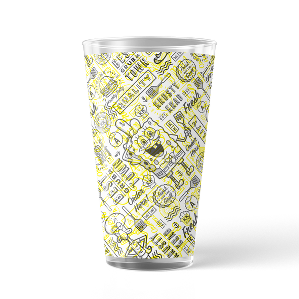 The Krusty Krab Fresh Off the Grill 17 oz Pint Glass - SpongeBob SquarePants Official Shop