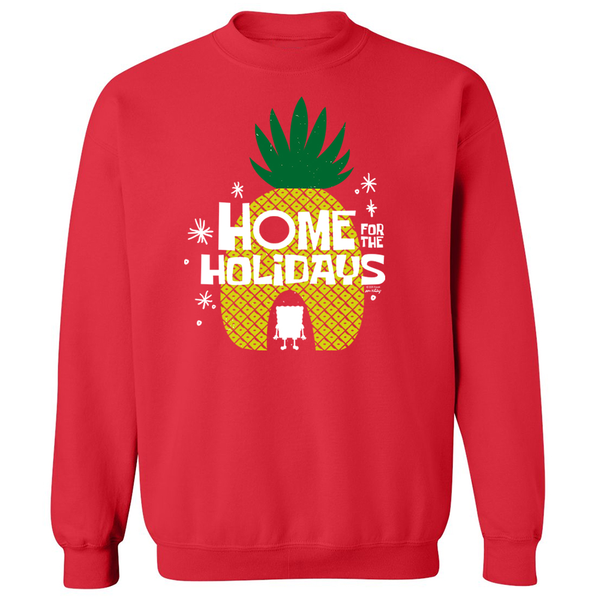 SpongeBob Home for the Holidays Crew Neck Sweatshirt - SpongeBob SquarePants Official Shop