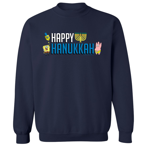 SpongeBob SquarePants Happy Hanukkah Fleece Crewneck Sweatshirt - SpongeBob SquarePants Official Shop