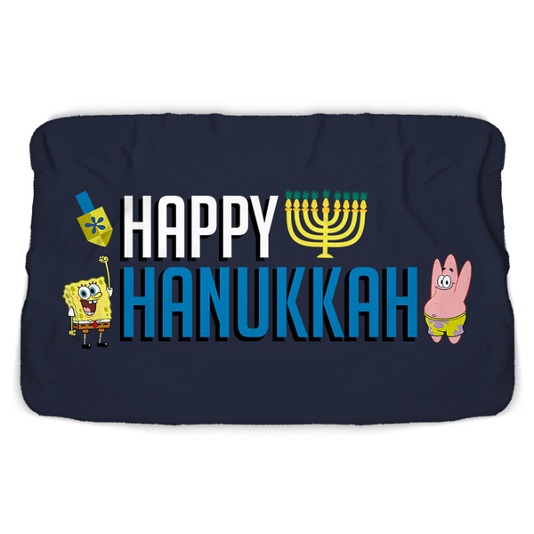 SpongeBob SquarePants Happy Hanukkah Sherpa Blanket - SpongeBob SquarePants Official Shop