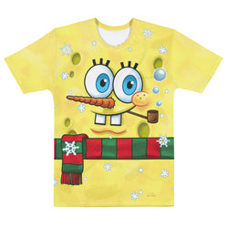 SpongeBob Snowman Short Sleeve T-Shirt - SpongeBob SquarePants Official Shop