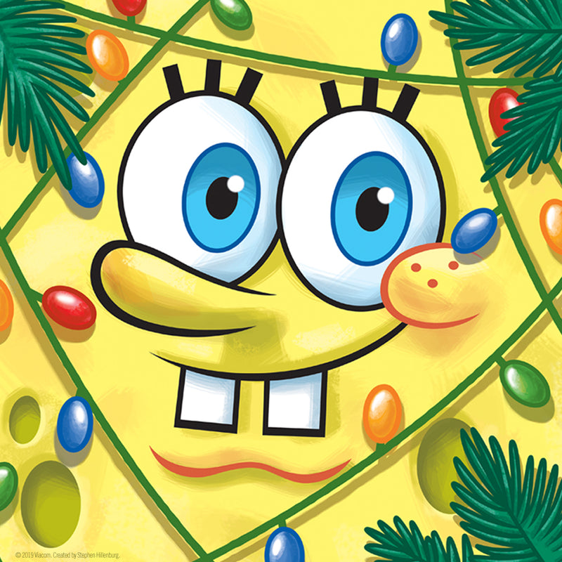 "SpongeBob Festive Pillow - 16"" x 16"" - SpongeBob SquarePants Official Shop"
