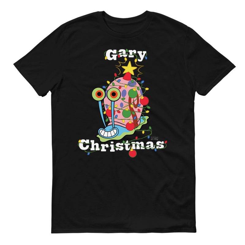 SpongeBob SquarePants SpongeBob Gary Christmas Adult Short Sleeve T-Shirt