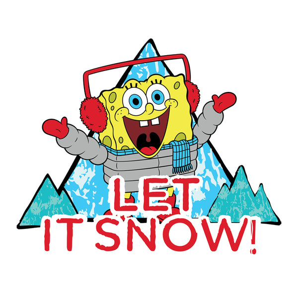 SpongeBob Let it Snow 15 oz White Mug - SpongeBob SquarePants Official Shop