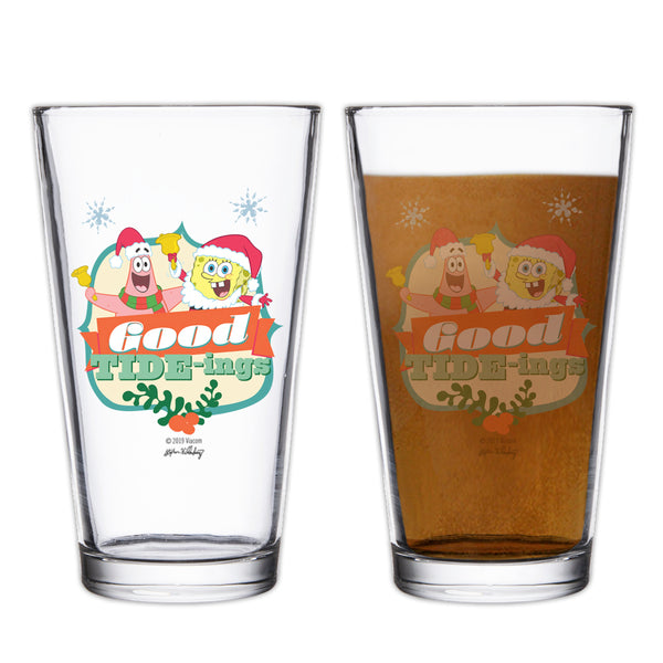SpongeBob Santa Pint Glass - SpongeBob SquarePants Official Shop