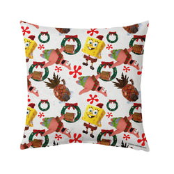 "SpongeBob and Patrick Holiday Pillow - 16"" x 16"" - SpongeBob SquarePants Official Shop"