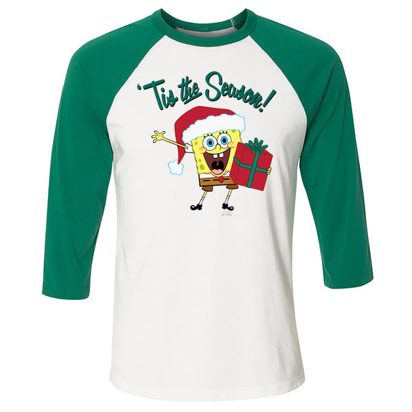 SpongeBob 'Tis the Season 3/4 Sleeve Baseball T-Shirt - SpongeBob SquarePants Official Shop