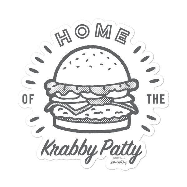 SpongeBob SquarePants The Krusty Krab Home of the Krabby Patty Die Cut Sticker - SpongeBob SquarePants Official Shop