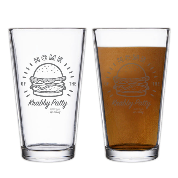 The Krusty Krab Home of the Krabby Patty Drinking Glass - SpongeBob SquarePants Official Shop