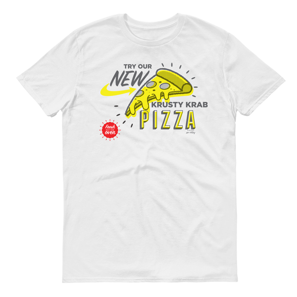 SpongeBob SquarePants The Krusty Krab New Pizza Adult Short Sleeve T-Shirt - SpongeBob SquarePants Official Shop