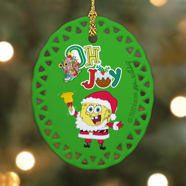 SpongeBob SquarePants Oh Joy Oval Doily Ornament - SpongeBob SquarePants Official Shop