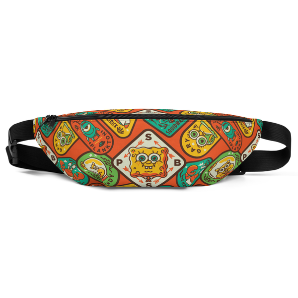 SpongeBob SquarePants Sponge on the Run Badges Premium Fanny Pack